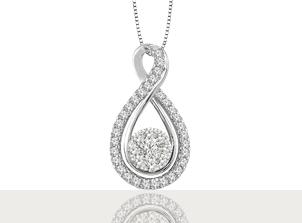 Dijes con Diamantes| Plata|Amore Mio!