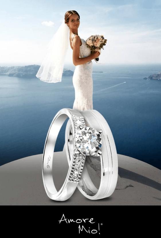 Eligiendo el vestido de novia.