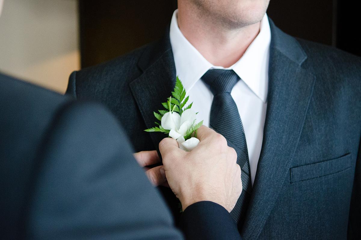 Los padrinos  y las argollas de matrimonio