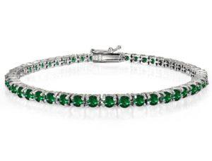 pulseras con esmeralda