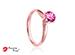 Anillo de compromiso de oro rosa de 14k