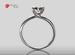 Anillo de compromiso de oro, con diamante central de: 0.30 Puntos Color- I Claridad- VVS2 (43/57)