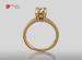 Anillo de compromiso de oro de 14k, con diamante central de:  0.71 puntos color- F claridad- VS1 (46/54)