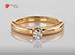 Anillo de compromiso de oro, con diamante central de: 0.18 Puntos Color- F Claridad- SI1 (72/28)