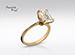 Anillo de compromiso de oro de 14k, con diamante central de: 2.67 Puntos Color- I Claridad- VVS2