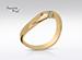 Anillo de compromiso de oro de 14k, con diamante central de:  0.16 Puntos Color-  F Claridad-  SI1