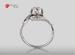 Anillo de compromiso de oro de 18k, con diamante central de:  0.55 Puntos Color- G Claridad- SI1 (31/69)