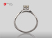 Anillo de compromiso de oro, con diamante central de: 0.28 Puntos Color- I Claridad- SI2 (41/59)