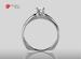 Anillo de compromiso de oro, con diamante central de: 0.30 Puntos Color- D Claridad- VS2 (37/63)