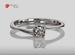 Anillo de compromiso de oro, con diamante central de: 0.26 Puntos Color- I Claridad- VS1 (36/64)