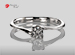 Anillo de compromiso de oro, con diamante central de: 0.26 Puntos Color- D Claridad- SI1 (35/65)