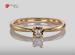 Anillo de compromiso de oro de 14k, con diamante central de: 0.08 H VS1 Diamond