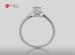 Anillo de compromiso de oro blanco de 18k con un diamante de: 0.19 puntos Color- I Claridad- SI1