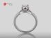 Anillo de compromiso de oro blanco de 18k con un diamante de: 0.33 puntos Color- G Claridad- SI2 (78/22)
