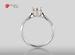 Anillo de compromiso de oro blanco de 18k con un diamante de: 0.74 puntos Color- H Claridad- SI1 (Mejorado) (31/69)