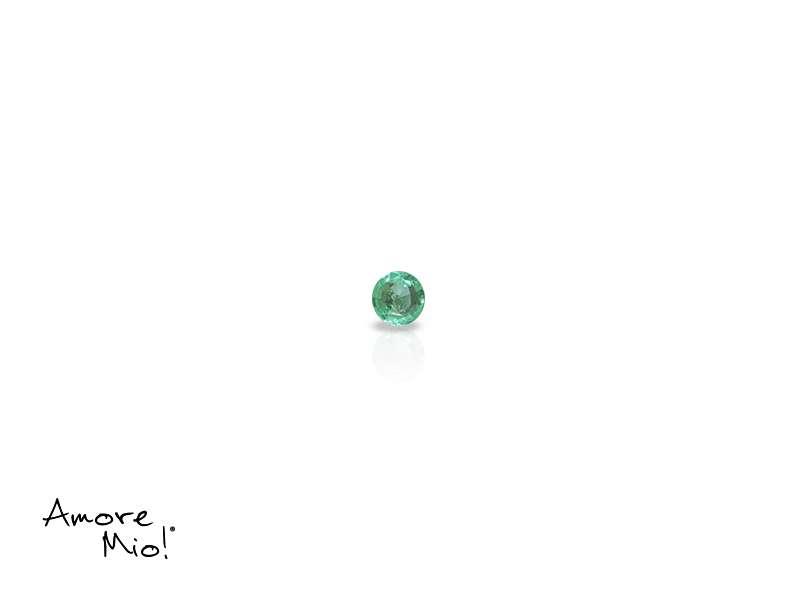 Emerald corte Round de 2 mm