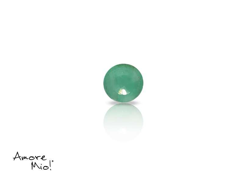 Emerald corte Round de 4 mm