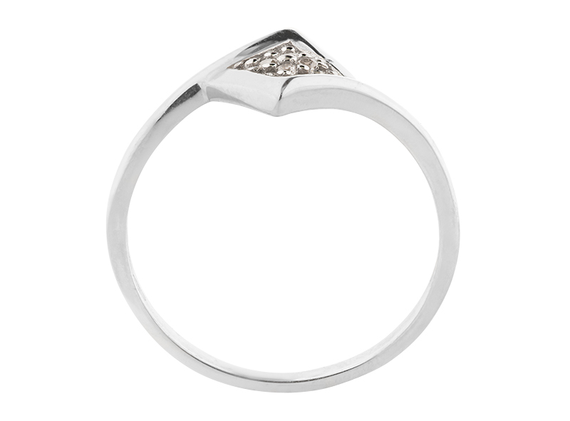 Anillo de promes de oro con Diamante lateral de: (4 x 0.01= 0.04 ct) ct Color- G Claridad- SI1