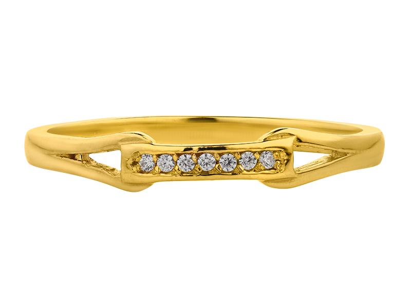 Anillo de promes de oro con Diamante lateral de: (7 x 0.005= 0.035 ct) ct Color- G Claridad- SI1