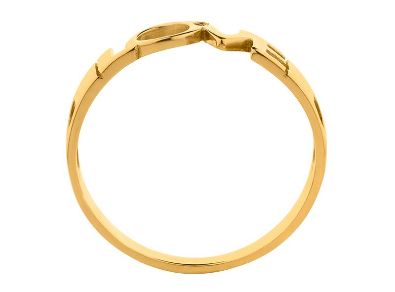 Anillo de promes de oro con Diamante lateral de: (1 x 0.005= 0.005 ct) ct Color- G Claridad- SI1