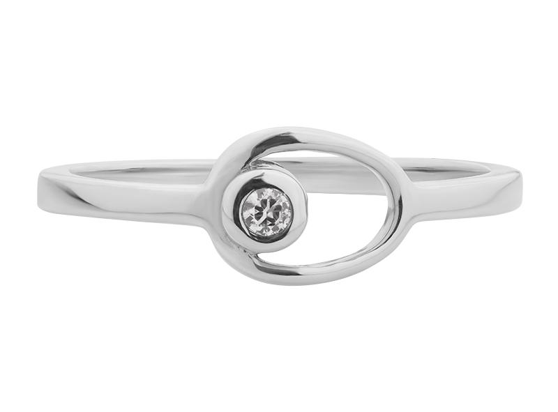 Anillo de compromiso de oro con Diamante central de: 0.03 ct Color- G Claridad- SI1 Piedras laterales: N/A