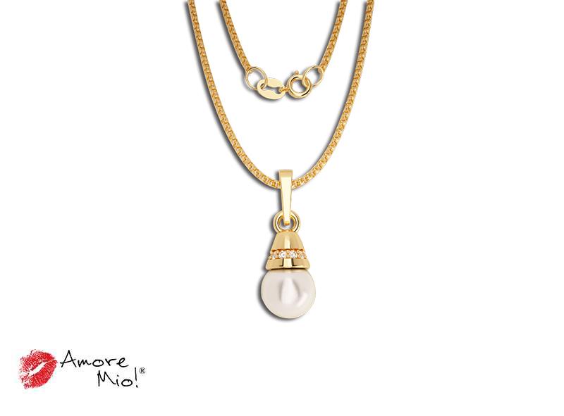 Dije de oro de 14kt con perla cultivada