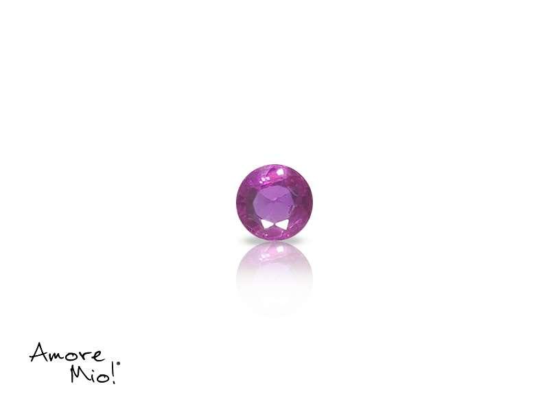 Ruby corte Round de 3.25 mm
