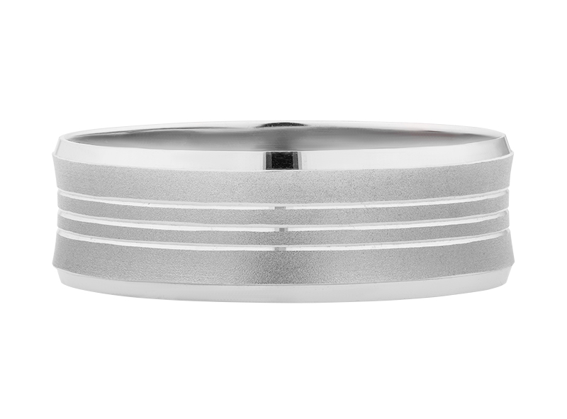 Argolla de matrimonio unisex de 6mm Maciza (precio unitario)
