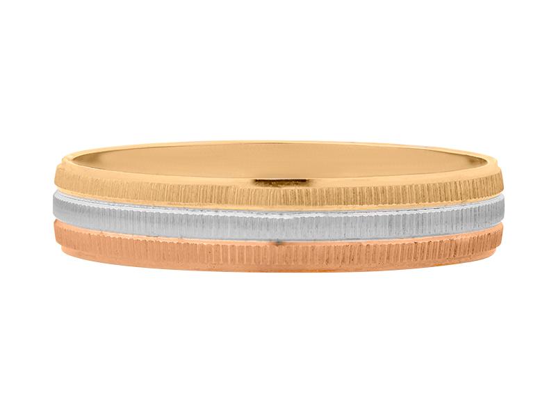 Argolla de matrimonio unisex de 4mm Hueca (precio unitario)