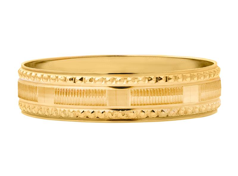 Argolla de matrimonio unisex de 5mm Hueca (precio unitario)