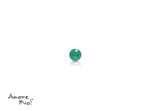 Agata corte Round de 2 mm