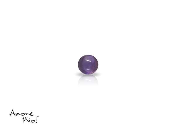 Amatista corte Round Cabuchon de 3 mm