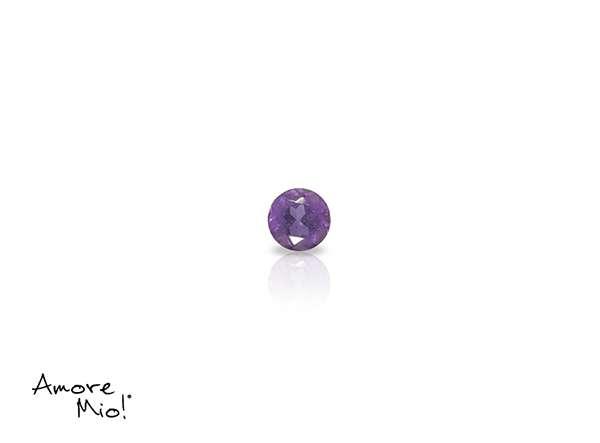 Amatista corte Round de 2.5 mm