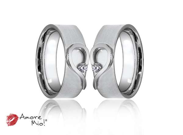 Argolla de Matrimonio unisex con diamante (Precio Unitario)