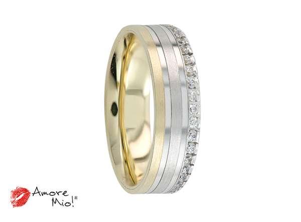 Argolla de matrimonio unisex, confort, con zirconia (precio unitario)