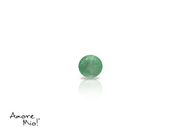 Emerald corte Round de 3 mm