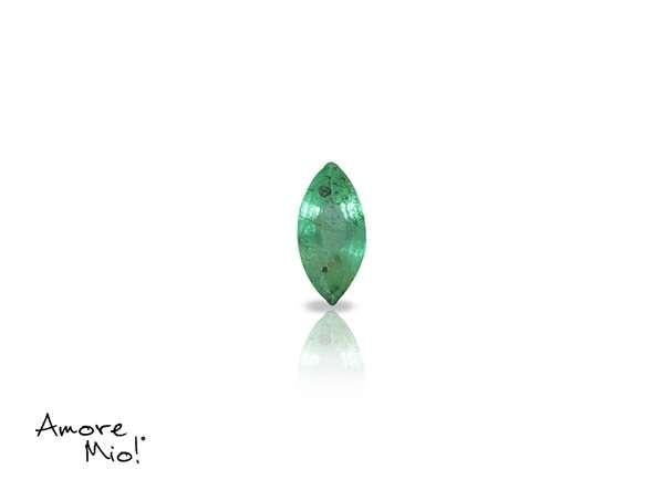 Emerald corte Martquise de 5X2.50 mm