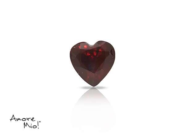 Granate corte Heart de 6X6 mm