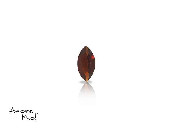 Granate corte Marquise de 5X2.5 mm