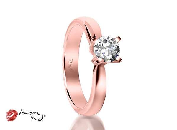 Anillo de compromiso de oro rosa de 14kt