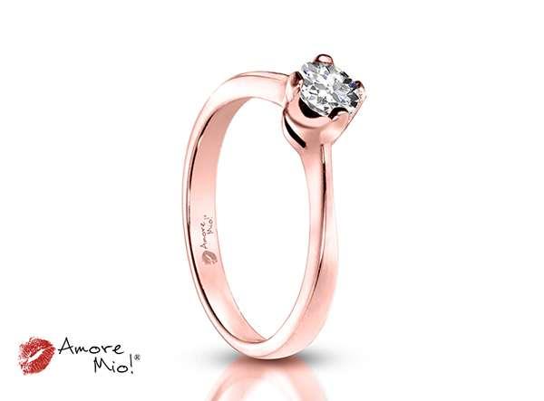 d828b3fa Anillo de compromiso de oro rosa de 14kt