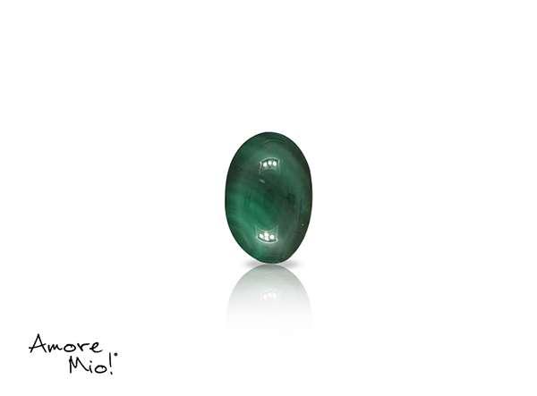 Malaquita corte Oval de 6X4 mm