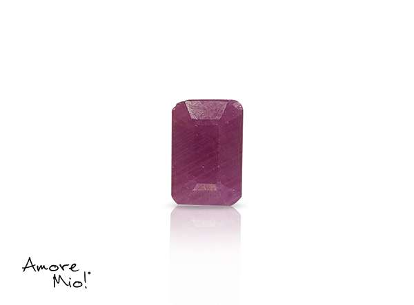 Ruby corte Emerald de 6X4 mm