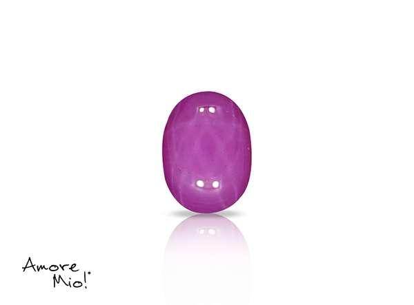 Ruby corte Oval Cabuchon de 7X5 mm