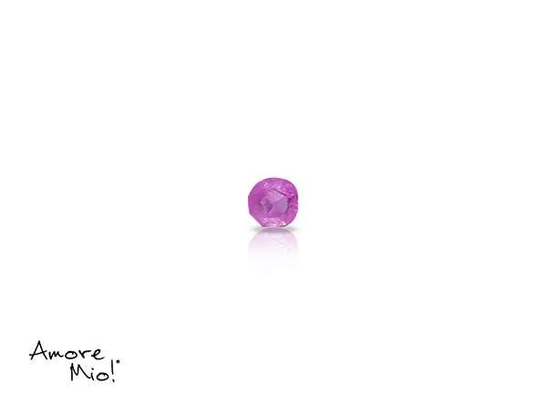 Ruby corte Round de 2 mm