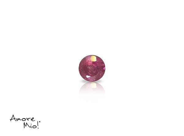 Ruby corte Round de 3 mm