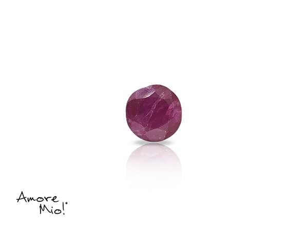 Ruby corte Round de 4.5 mm