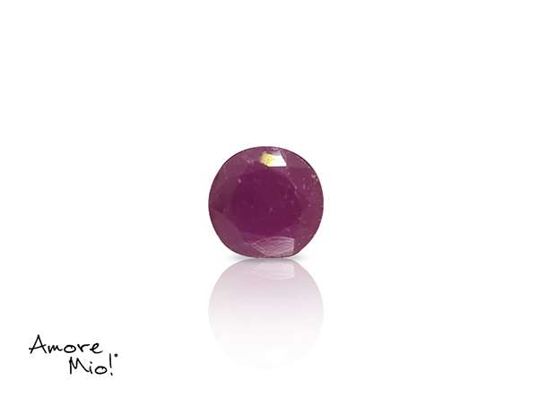 Ruby corte Round de 5 mm