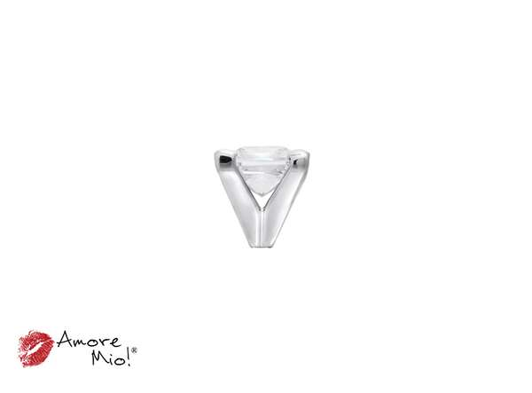 14k White Gold Head For: Princess Diamond