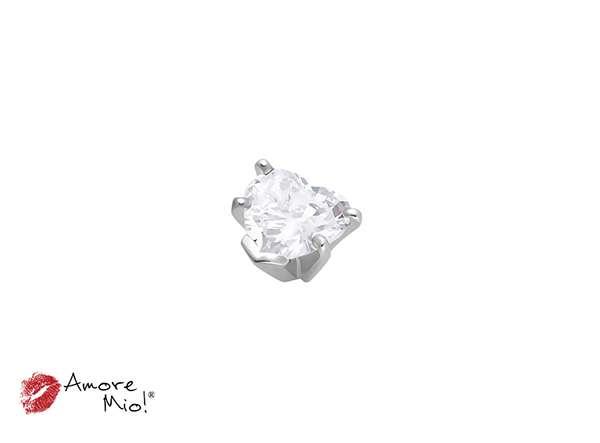 14k White Gold Head For: Heart Diamond